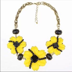Flower yellow Necklace